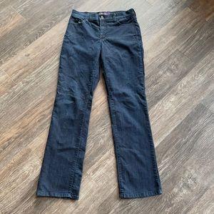 Women's NYDJ Dark Wash Straight Leg Jeans Sz 8